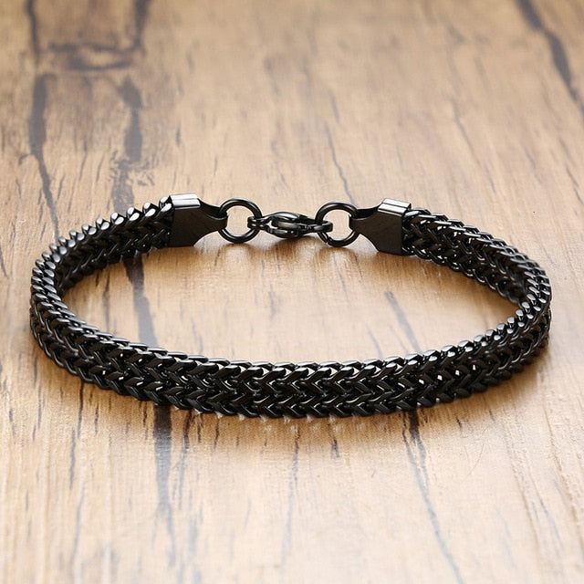 Vintage Oxidized Cool Double Curb Chain