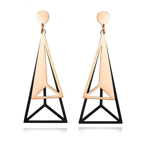 Stainless Steel Geometric Earrings