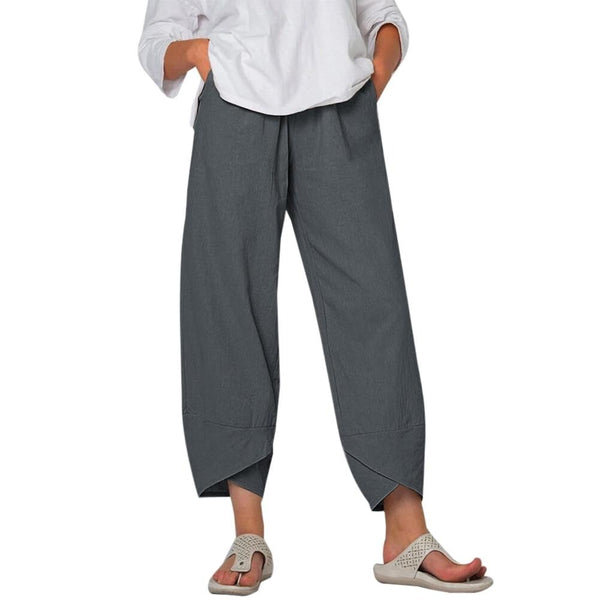 Vintage Cotton Linen Pants Women's