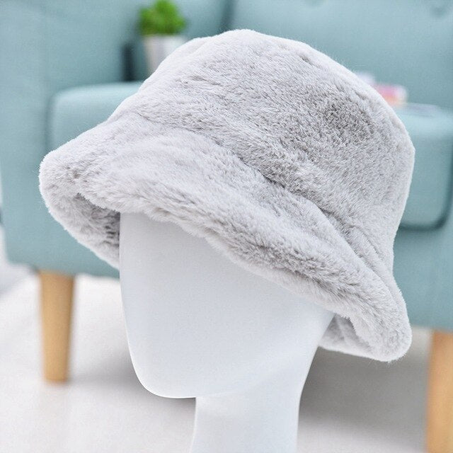 Thickened Fluffy Plush Cap