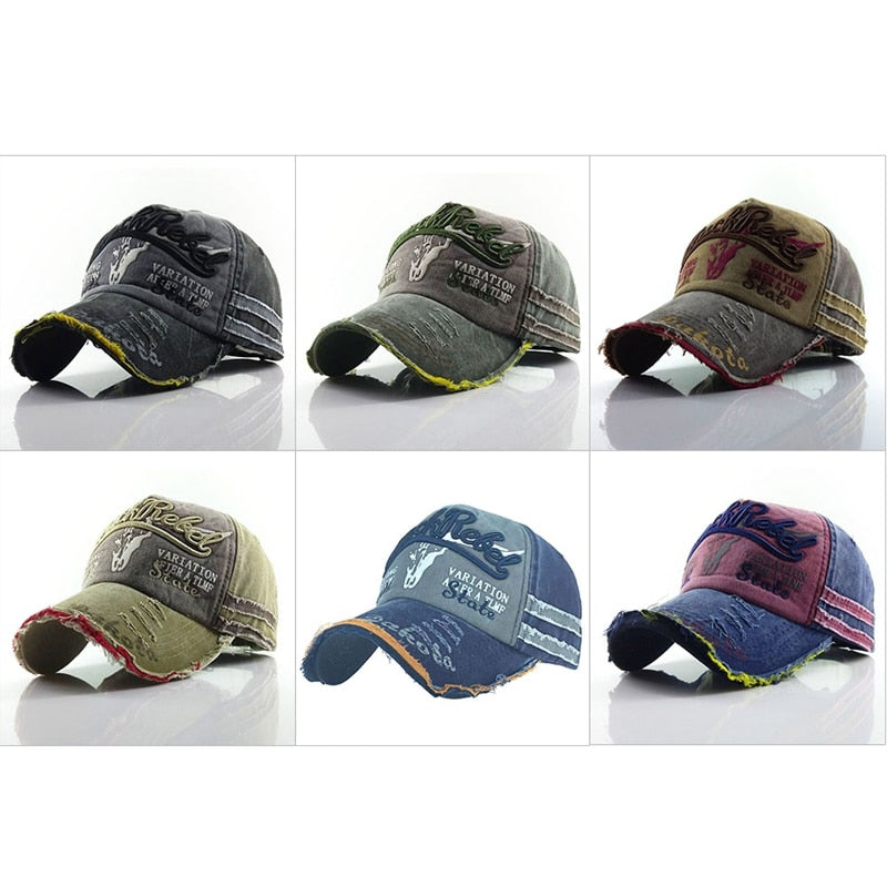 Baseball Cap Men Women Washed