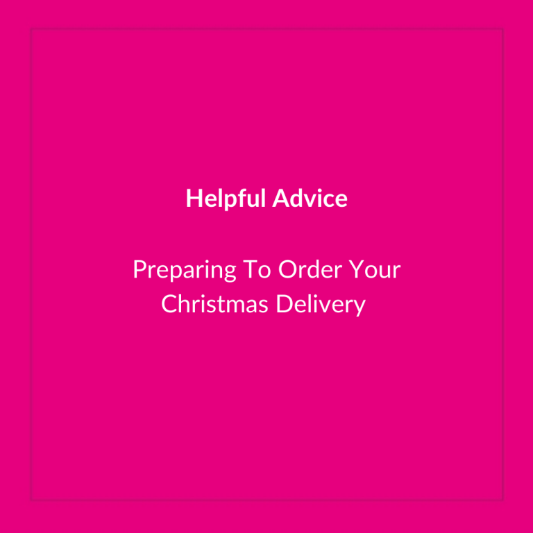 Preparing to order your Christmas Delivery