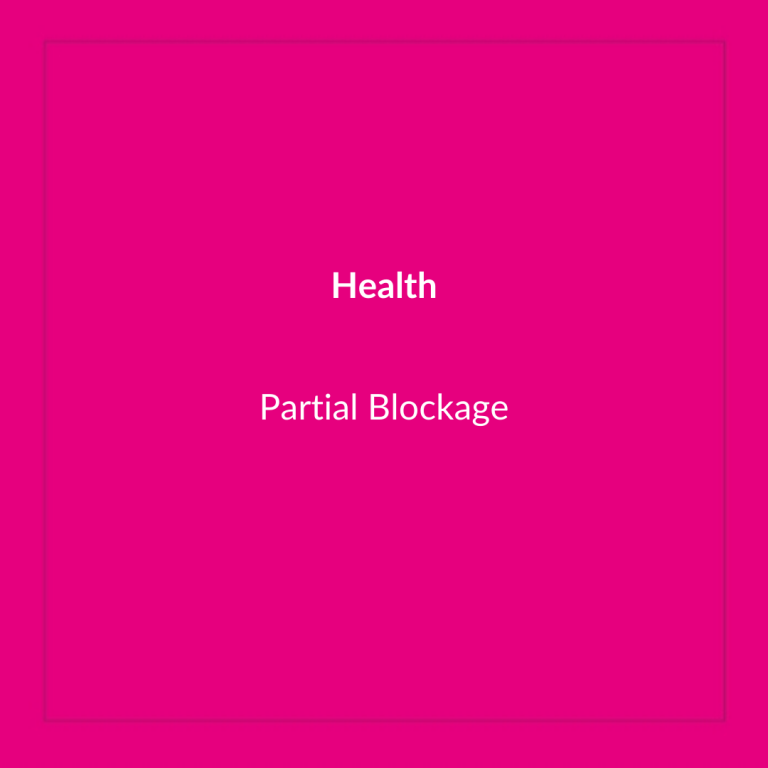 Partial Blockages