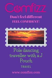 Pole dancing traveller with a J Pouch