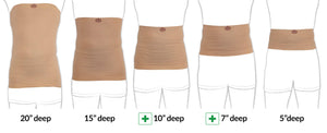 "Comfizz 20"" Waistband with Silicone, Level 1 Support - Unisex"