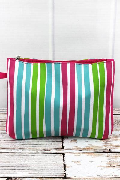 Aruba Stripe Hot Pink Wet/Dry Bag