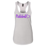 Pickleball Heart Women's Racerback Triblend Tank