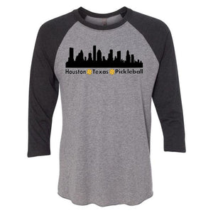 Houston, TX Pickleball 3/4 Sleeve Shirt