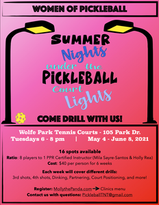 **SOLD OUT** Women of Pickleball - Ladies Drill Night (Beginner - 3.5 Skill Level)