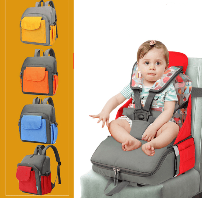 Diaper Backpack Bag & Dining Chair - Daily Smiley