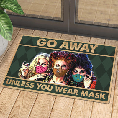 HP Go Away Unless You Have Mask Doormat