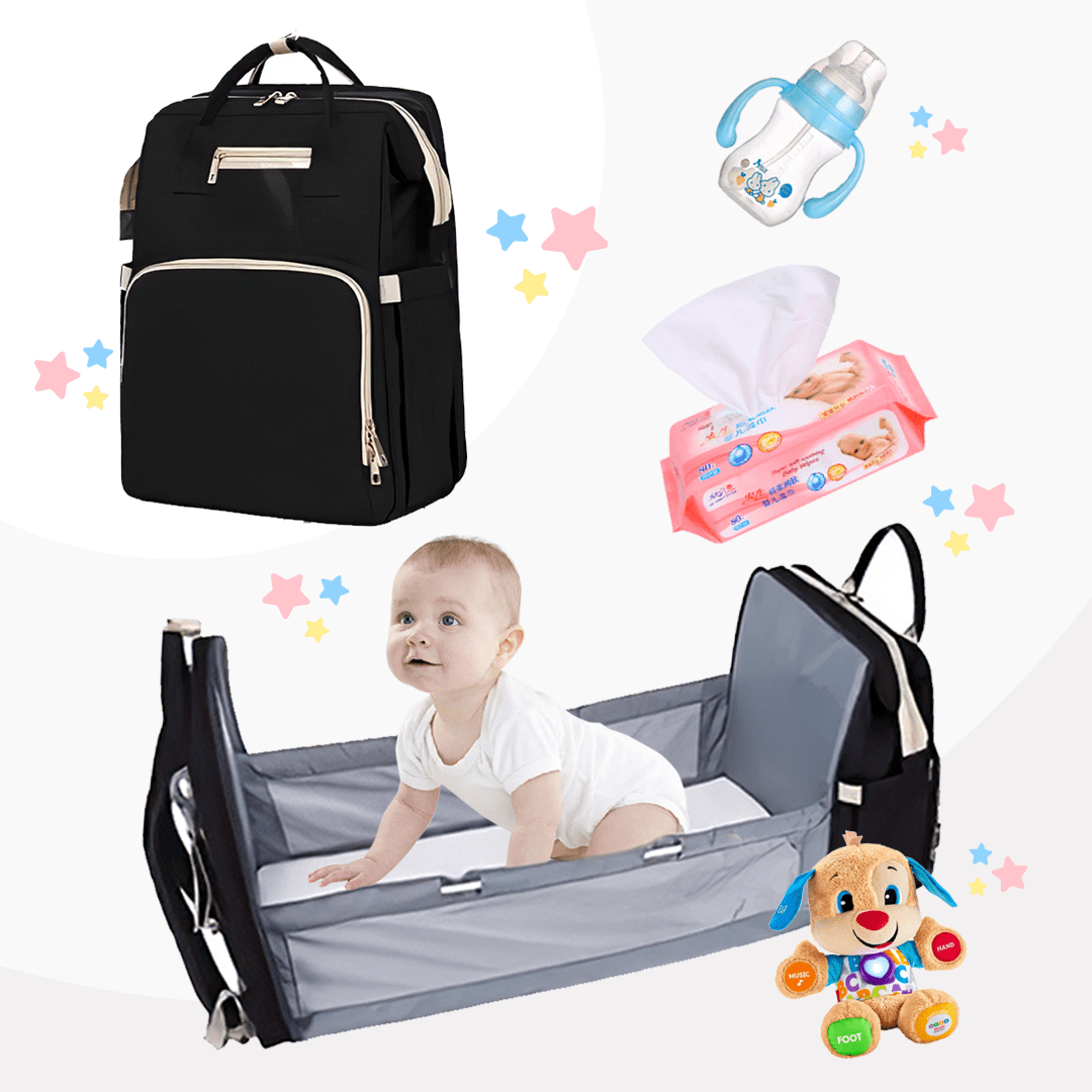 #1 Diaper Bag Backpack and Portable Bed (2020 Upgraded) - Daily Smiley