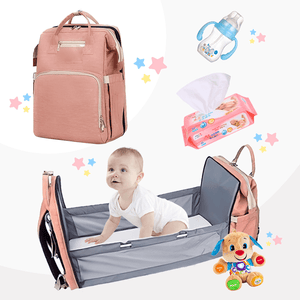 3xDiaper Bag Backpack and Portable Bed (2020 Upgraded) - Daily Smiley