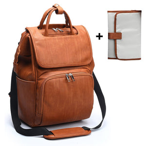 2020 PU Leather Baby Diaper Bag Backpack