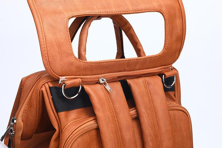 2020 PU Leather Baby Diaper Bag Backpack - Daily Smiley
