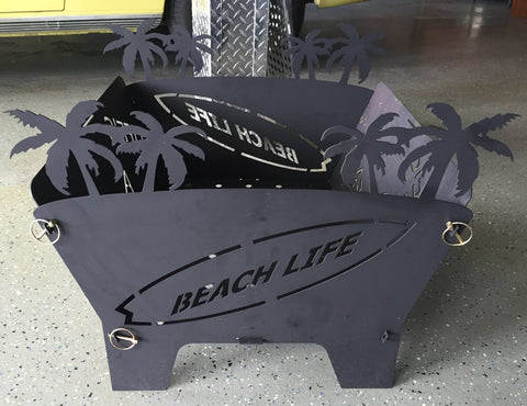Portable Fire Pit - Life's a Beach
