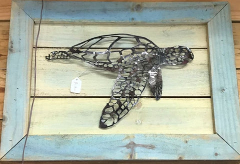 Sea Turtle Wood Mount