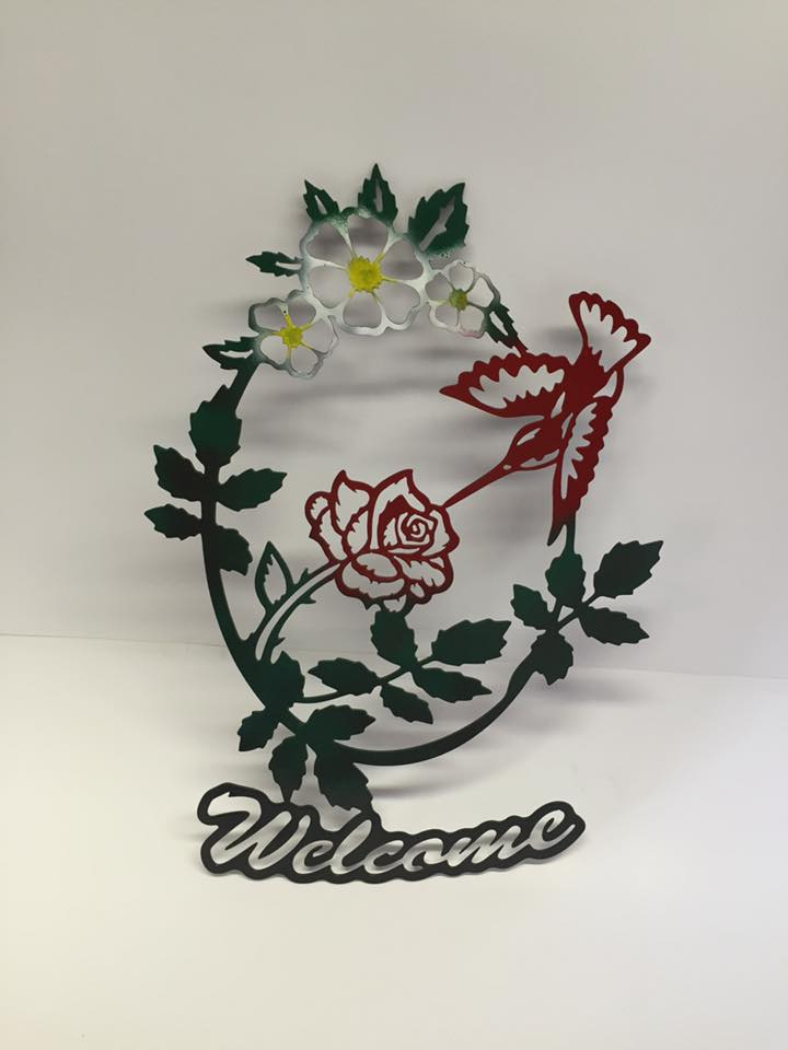 Garden Inspired Welcome Sign