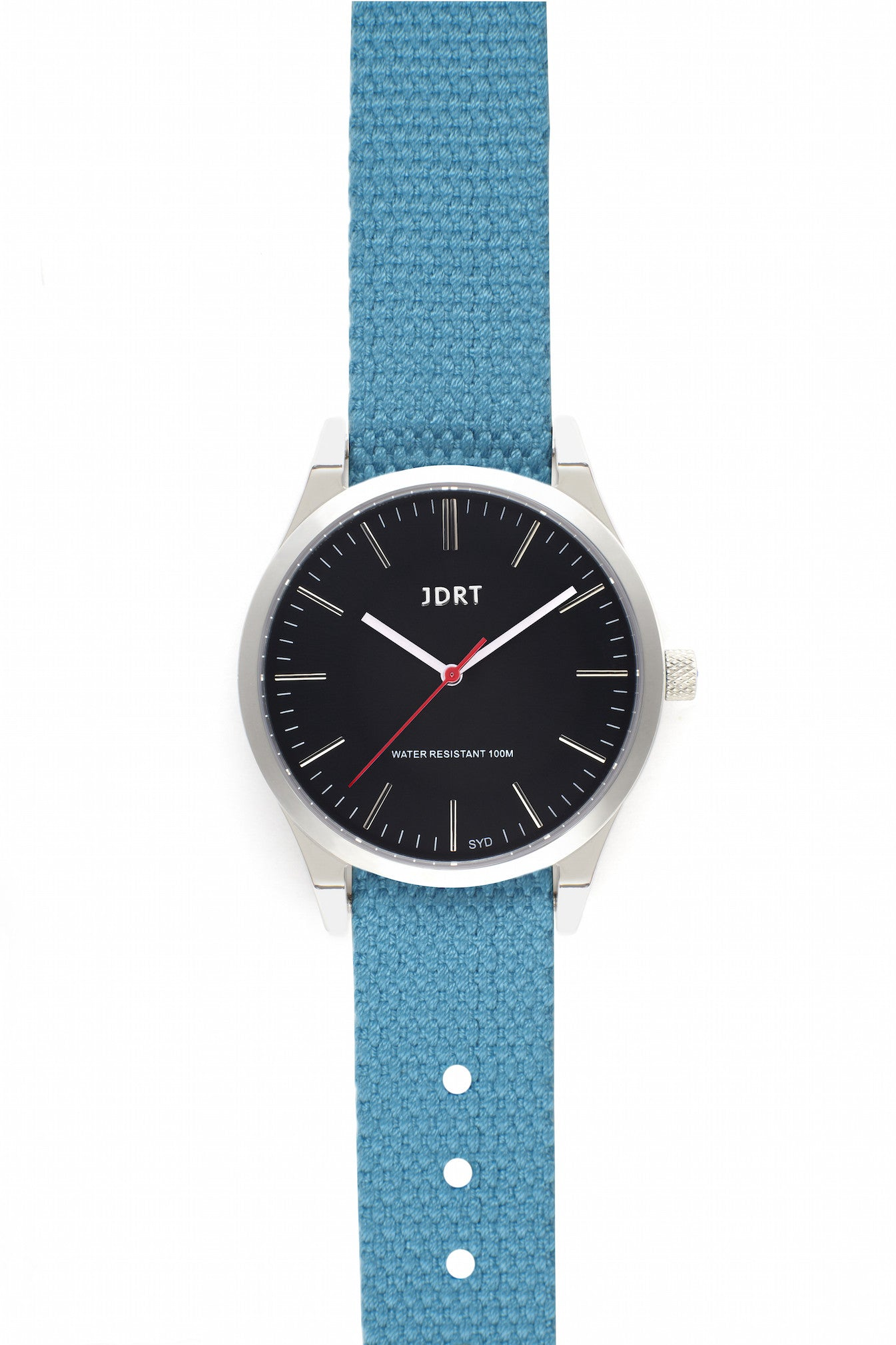 Jet Face with Caribbean Canvas Watch Band