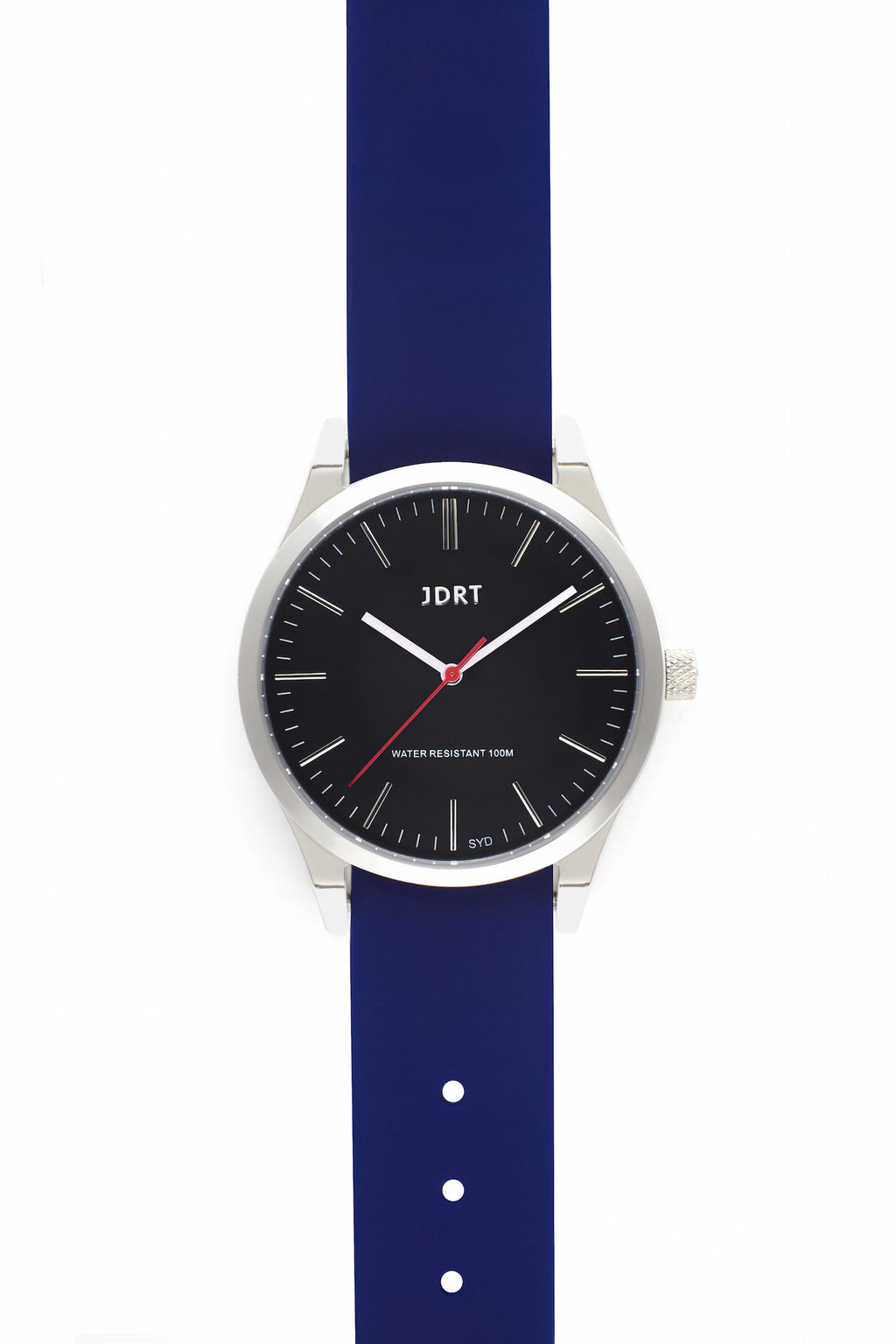 Jet Face with Blueprint Silicone Watch Band