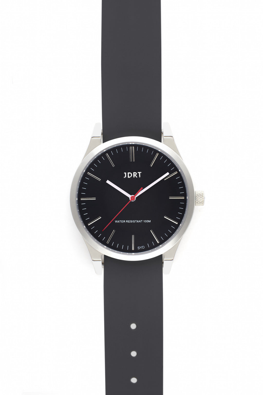 Jet Face with Slate Silicone Watch Band