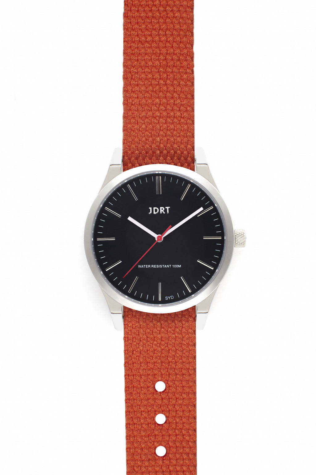 Jet Face with Mandarin Canvas Watch Band