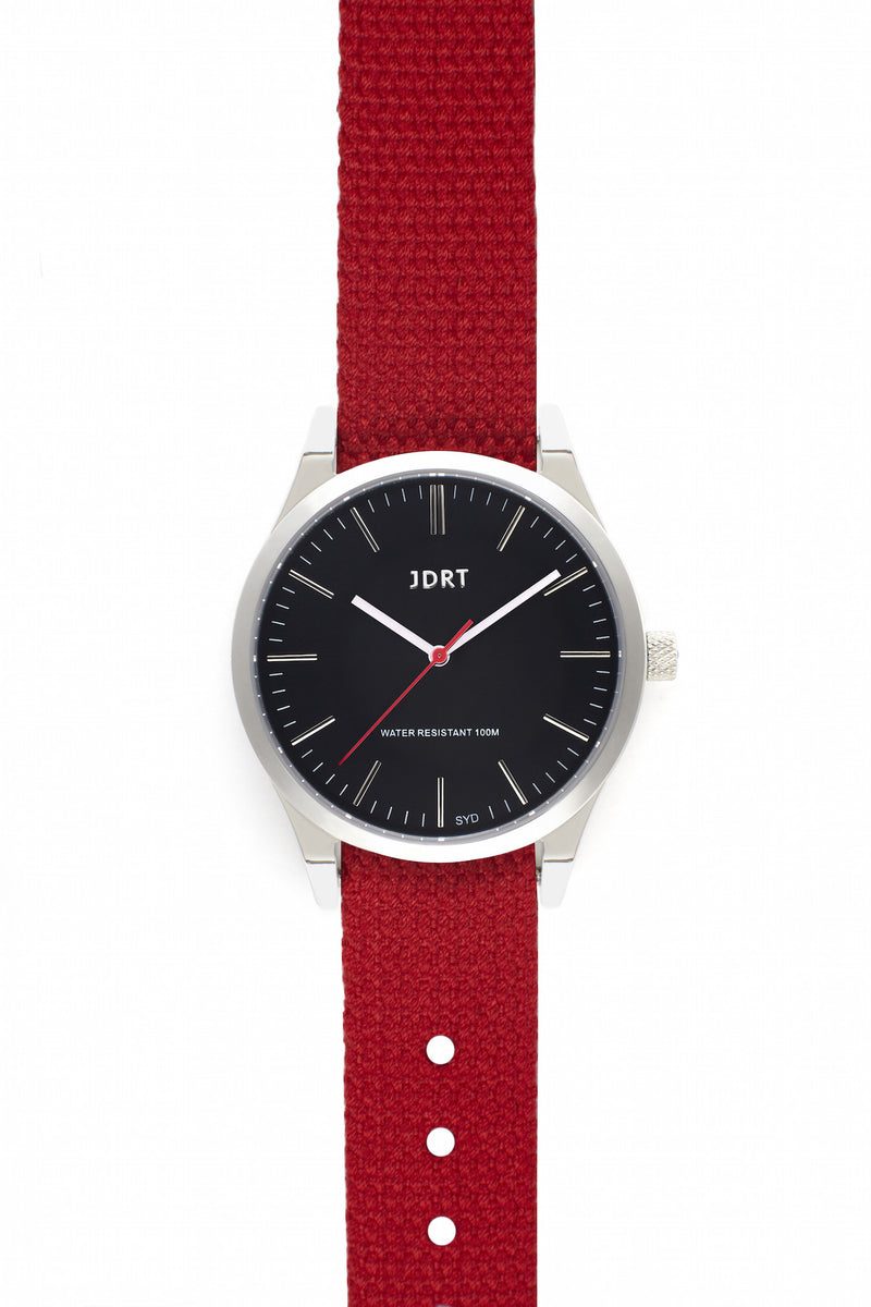 Jet Face with Chilli Canvas Watch Band