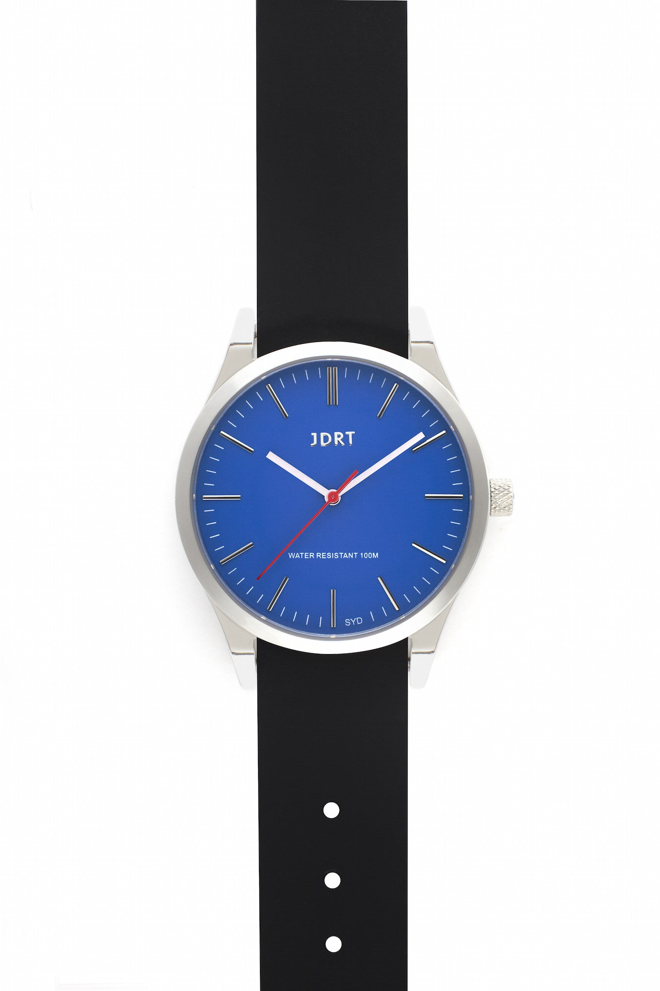 Azure Face with Jet Silicone Band
