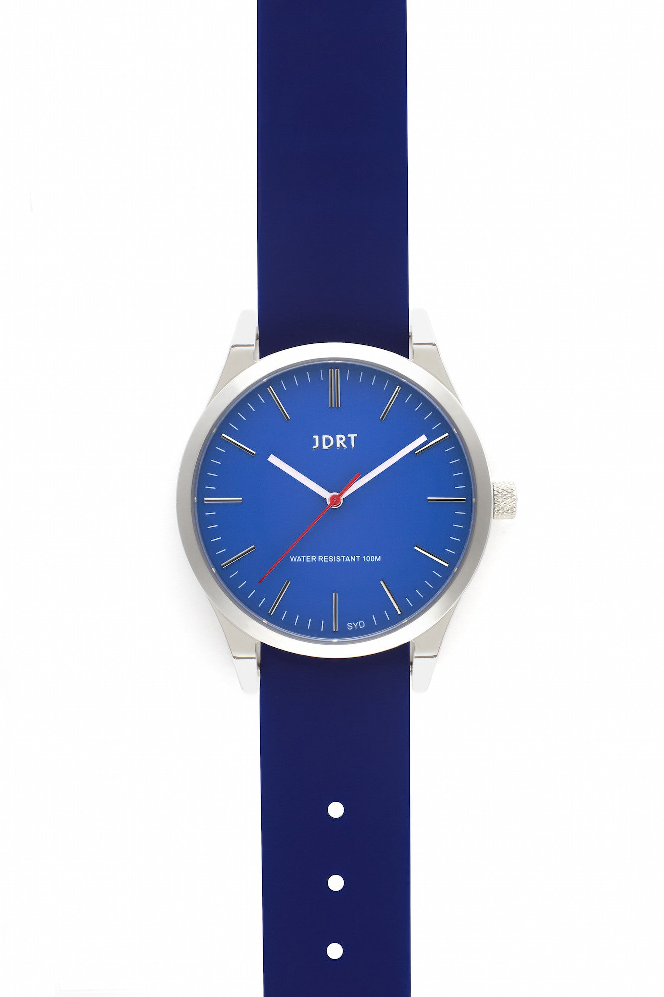 Azure Face with Blueprint Silicone Watch Band