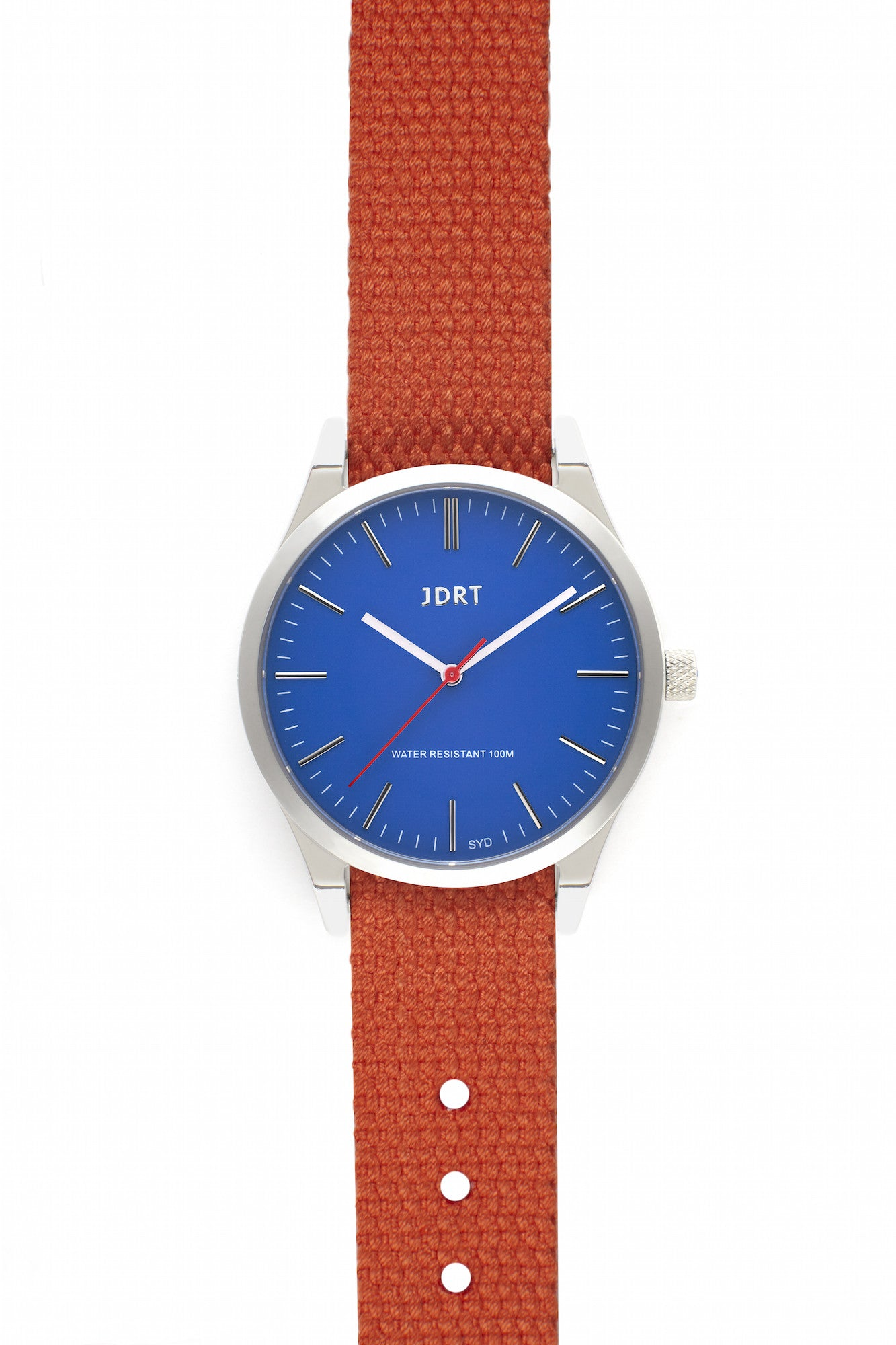Azure Face with Mandarin Canvas Watch Band