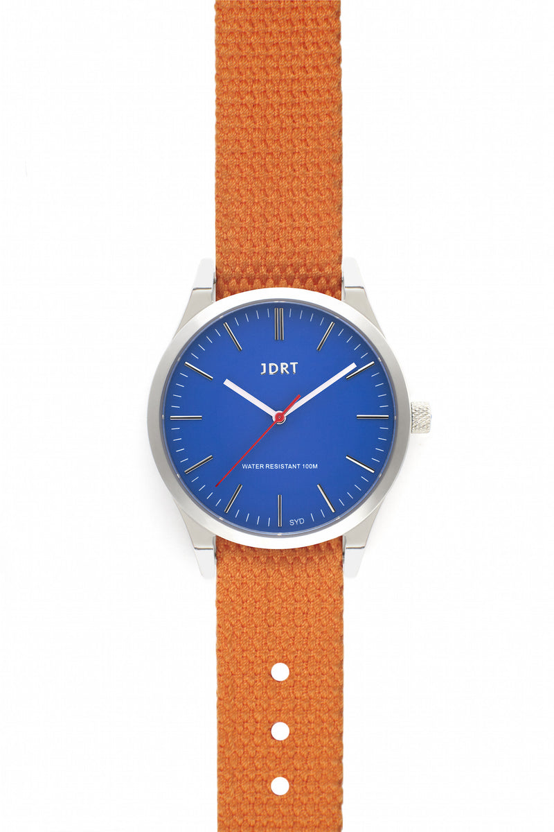 Azure Face with Hazard Canvas Watch Band