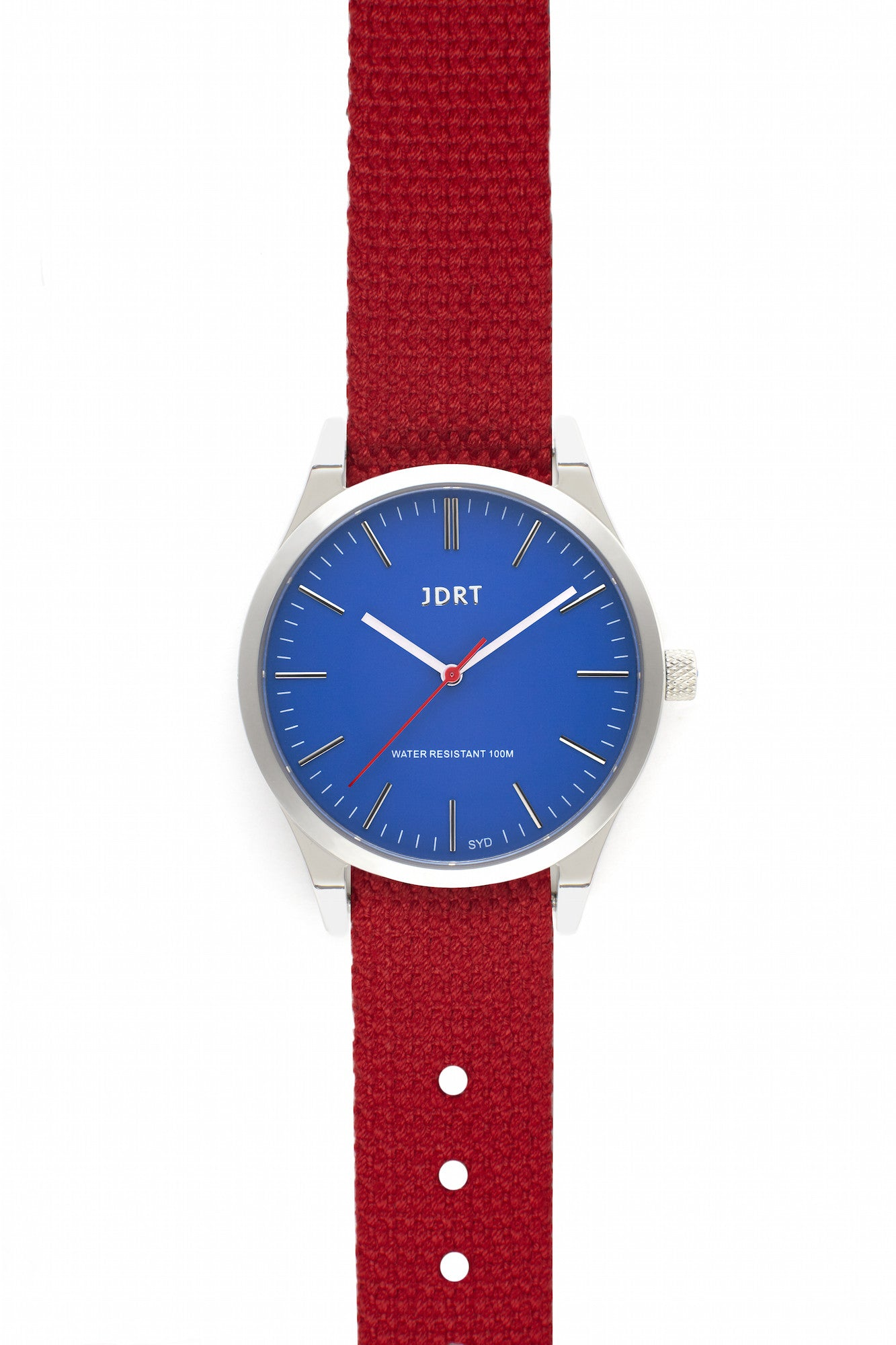 Azure Face with Chilli Canvas Watch Band