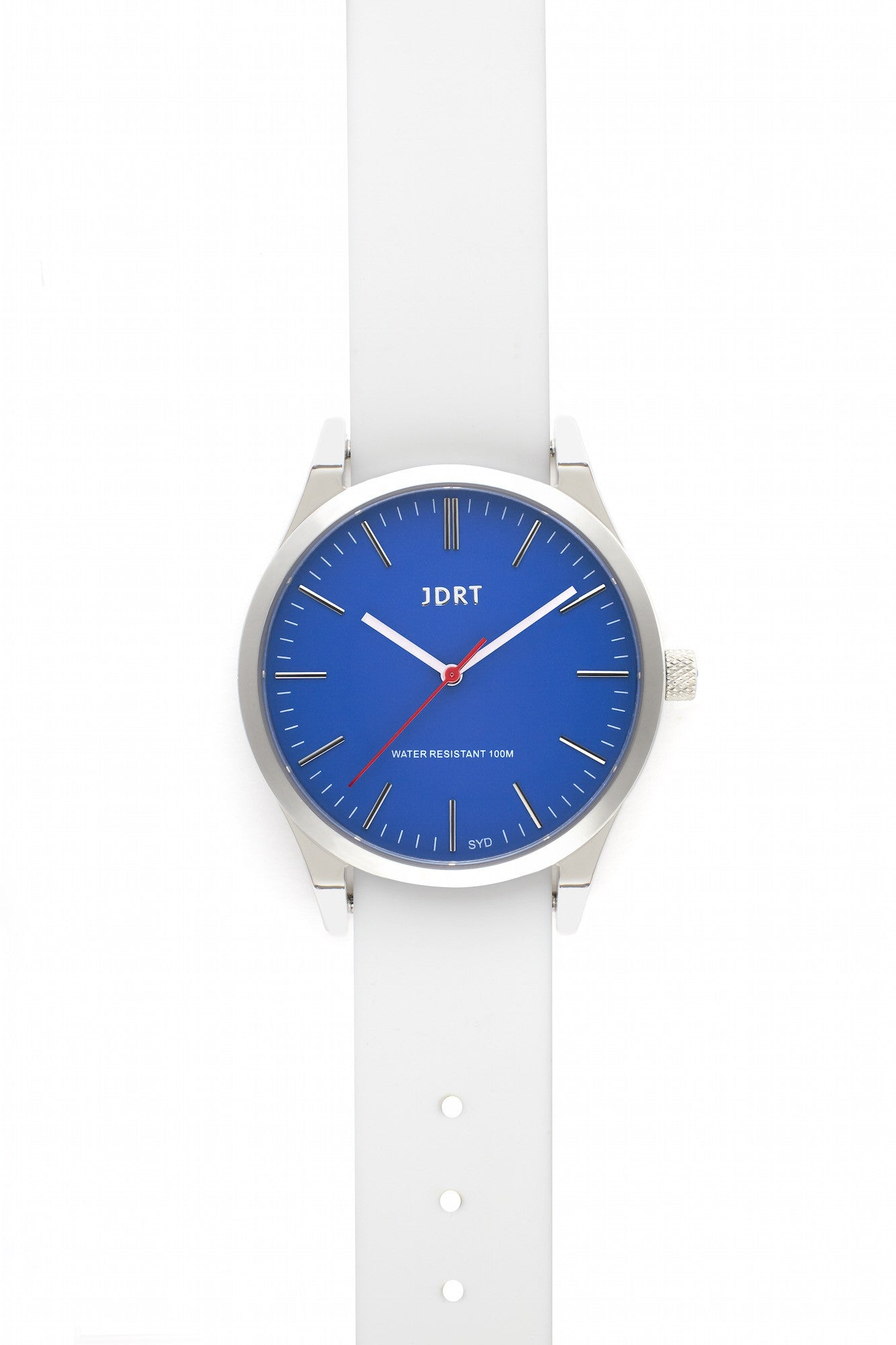 Azure Face with Antique White Silicone Watch Band