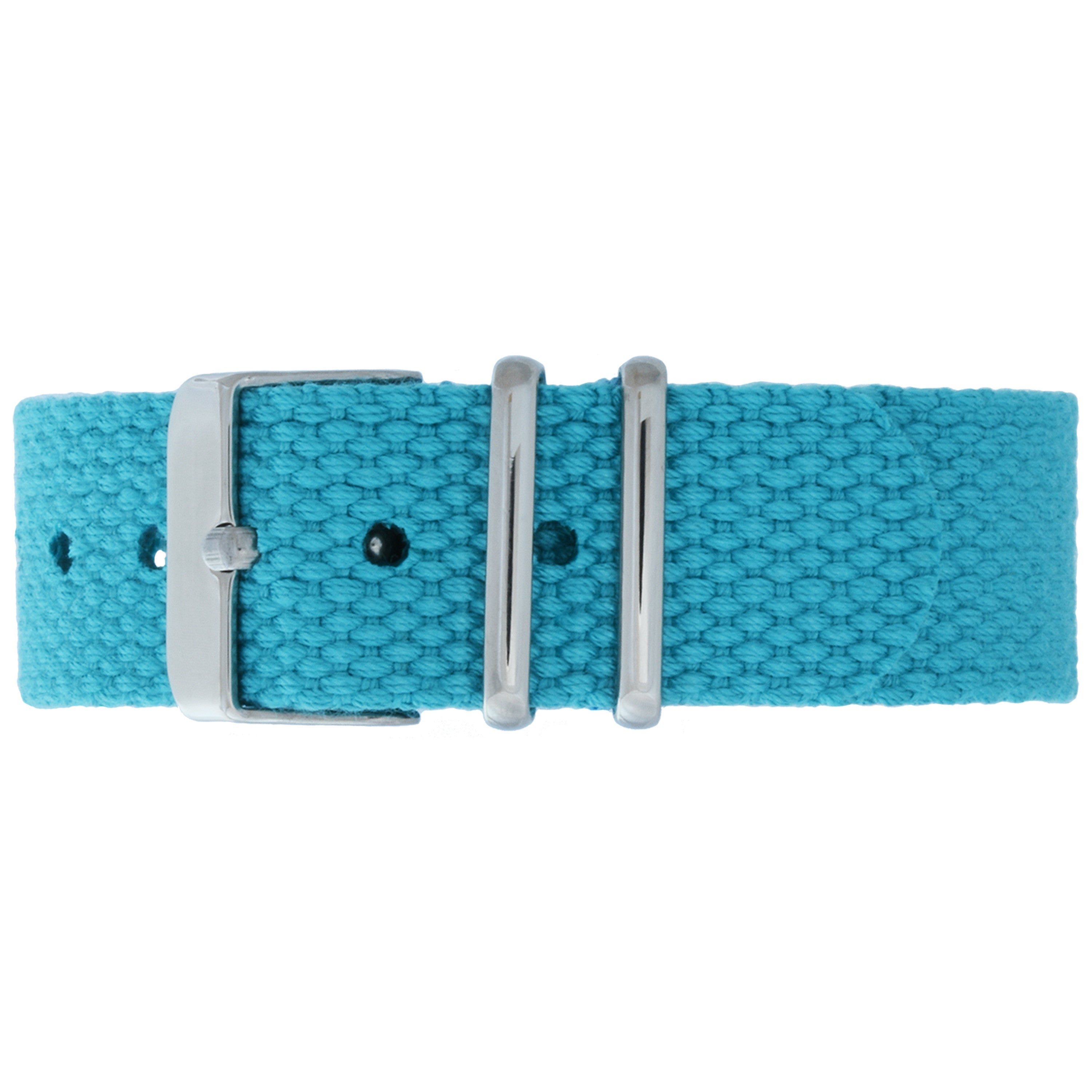 Caribbean Canvas Strap - Silver Buckle