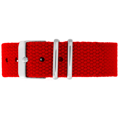 Chilli Canvas Strap - Silver Buckle