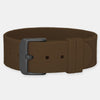 Brown Silicone Strap - Silver Buckle
