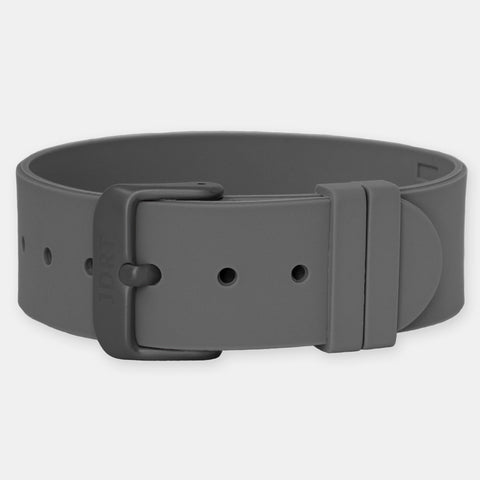 Brown Silicone Strap - Matte Black Buckle