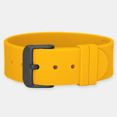 Orange Silicone Strap - Matte Black Buckle