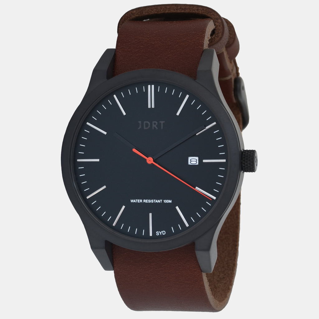 Matte Black / Chestnut Leather
