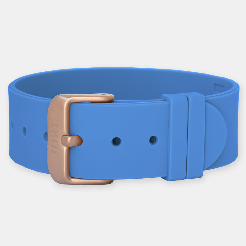 Marina Silicone Strap - Matte Rose Gold Buckle
