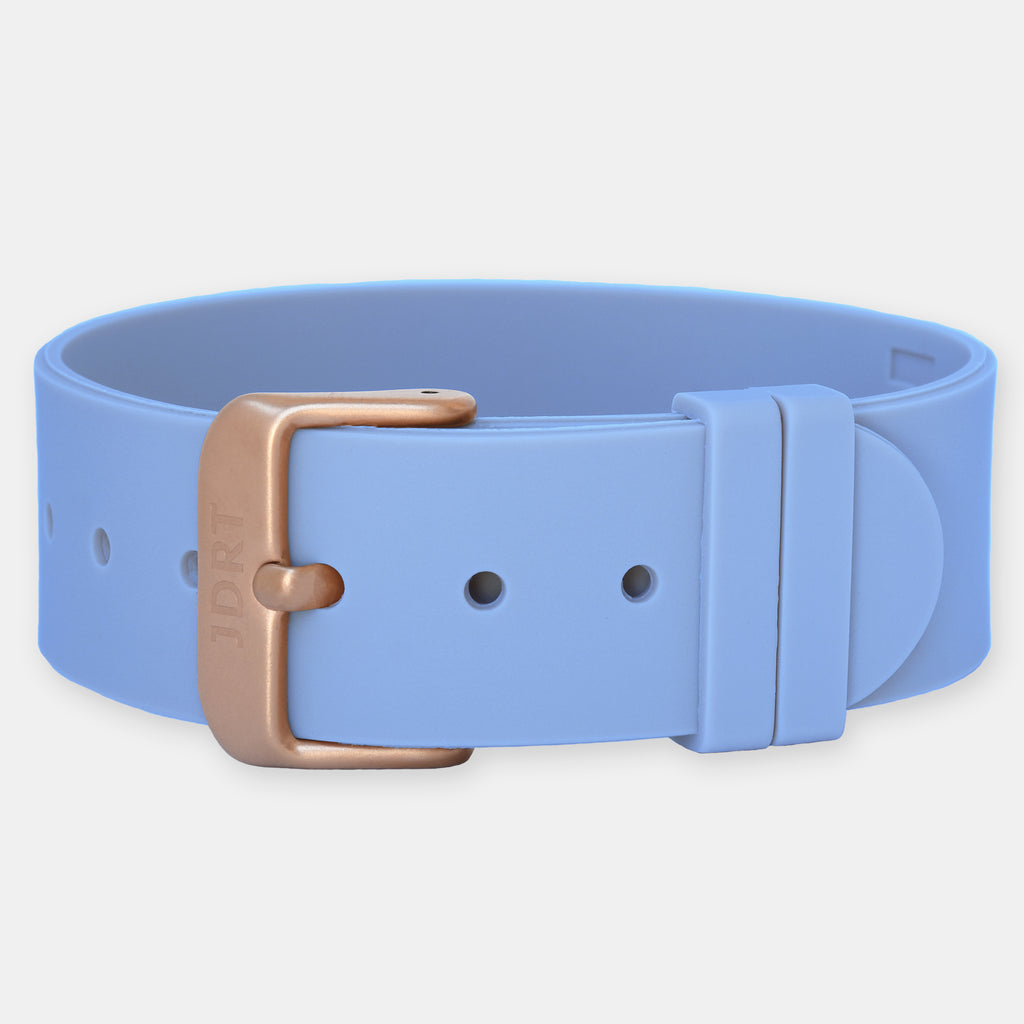 Sky Silicone Strap - Matte Rose Gold Buckle