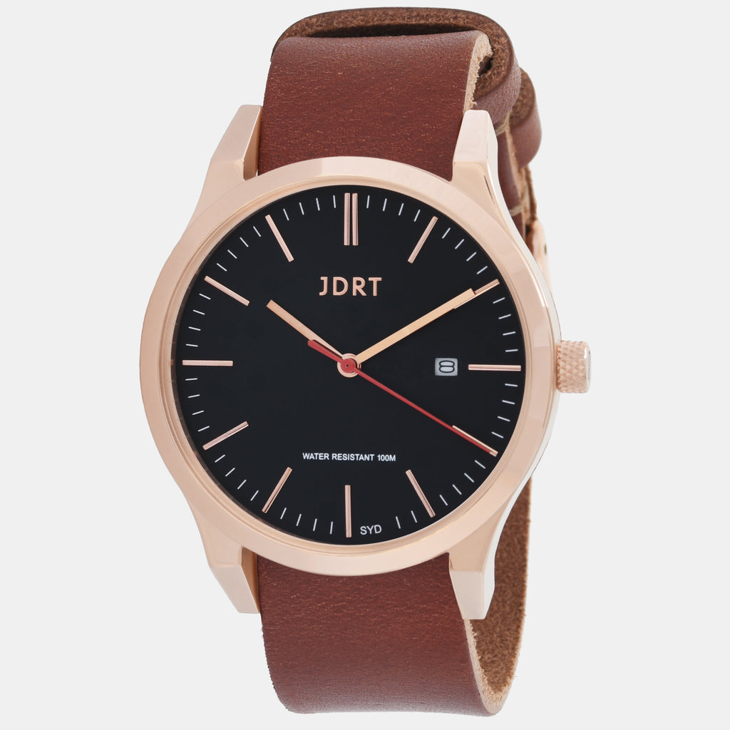Rose Black / Brown Leather
