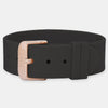 Jet Silicone Strap - Rose Gold Buckle