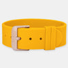 Orange Silicone Strap - Rose Gold Buckle