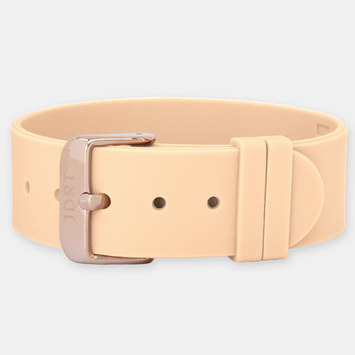 Sand Silicone Strap - Rose Gold Buckle