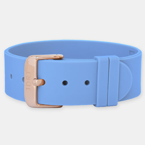 Sky Silicone Strap - Rose Gold Buckle