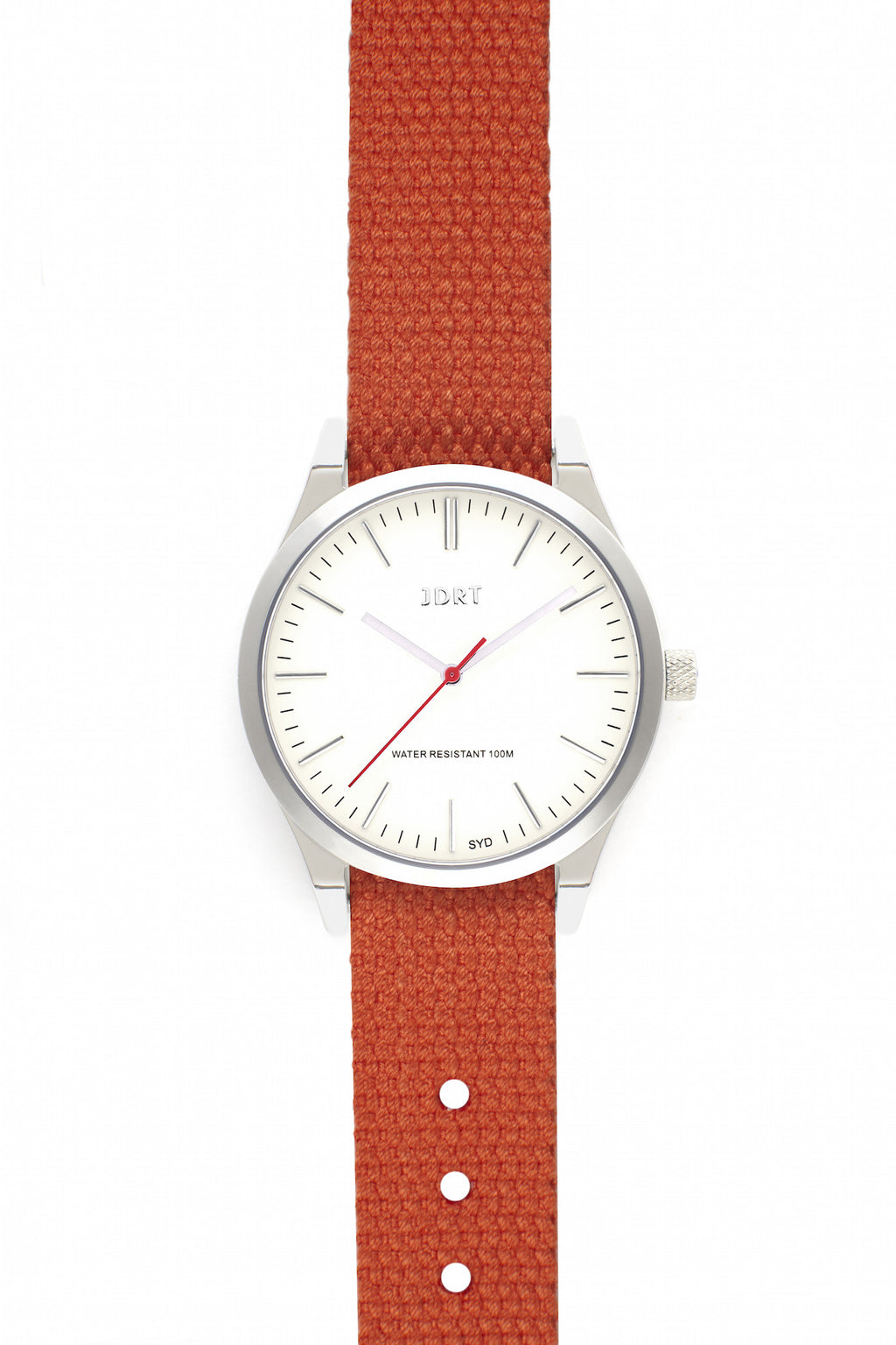 Antique White Face with Mandarin Canvas Watch Band