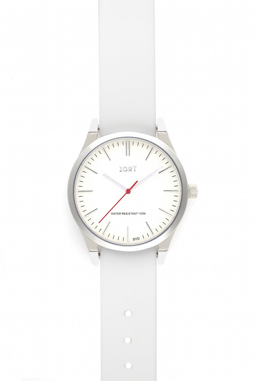 Antique White Face with Antique White Silicone Watch Band