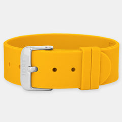 Orange Silicone Strap - Silver Buckle