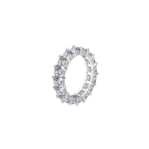 ICED ETERNITY RING - VITGULD